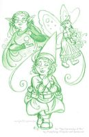 For Fairy Love - title image sketch by rachelillustrates