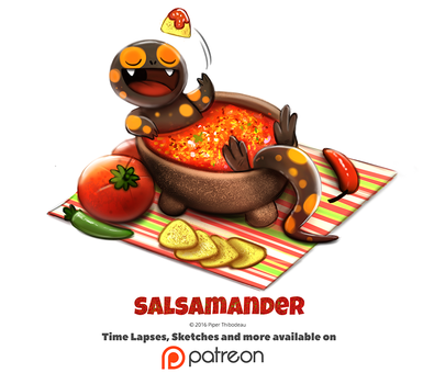 Day 1390. Salsamander by Cryptid-Creations