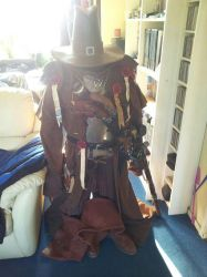 the witchunters armour on the display by kvaerr