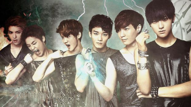 EXO-M Let Out the Beast Wallpaper by dangerous-love