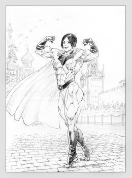 Soviet Superwoman in Red Square by Soviet-Superwoman