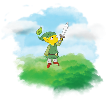 Yellow Pikmin Link by Yumesky
