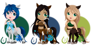 Chibi Centaur Adopts (closed) by Wild-Nekodog