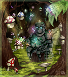 C- Golem and the Faeries by Fearcrowz