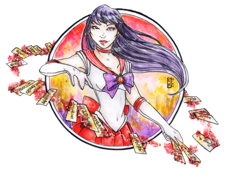 Sailor Mars by Nenril-Tf
