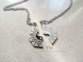 The Yin To My Yang - Matching Necklaces by thingamajik