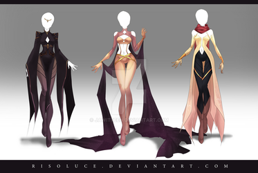 (CLOSED) Adoptable Outfit Auction 142 - 144 by JawitReen