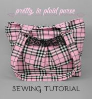 Sewing Tutorial: The Pretty in Plaid Purse by SewDesuNe