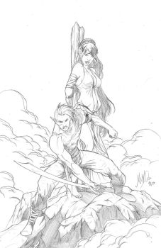 Gaul and Asilly by szzickra