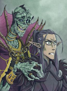 Critical Role Vax and Vecna by Takayuuki