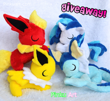 Sleepy plushie giveaway by PinkuArt