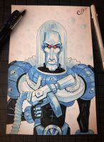 Mr. Freeze - Inktober Day 6 by Curly-Artist