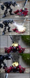 Ironhide vs Sentinel Prime pt3 by pun-3x