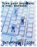 NaNo banner - keyboard workout by scifiroots
