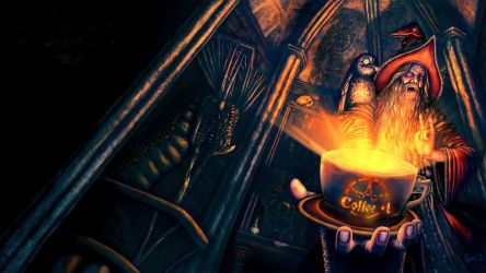 Coffee Mage Wallpaper Ver By Winds Of Chaos On DeviantArt