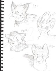 Sketches for friendos 2 by lilo1212