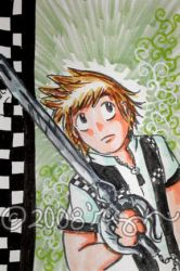artcard commish: roxas by bluecanarykit