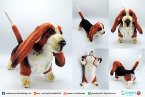 Basset Hound Plush by DemodexPlush