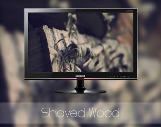 Shaved Wood by MGWallpaper