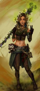 Sivani the wood elf druid by 12345t67