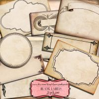 Scrapbook frame Blank Labels by miabumbag