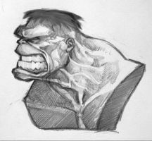 Hulk bust concept by MonsterPappa