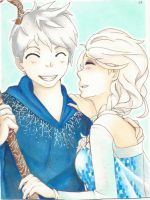 Jack Frost and Elsa by carlyFMA