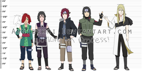 WIP: Naruto OC Height Chart by anniberri