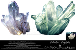 Colorful Crystals by CD-STOCK Premium Stock by CD-STOCK