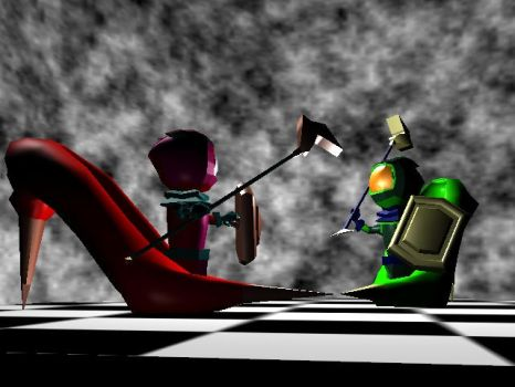 Stiletto Duel by Tombstonedust