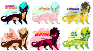 Candies and Critters batch [CLOSED] by pseudodragons-den
