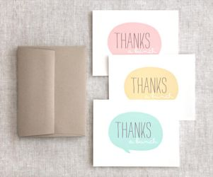 Thank You Cards by happydappybits