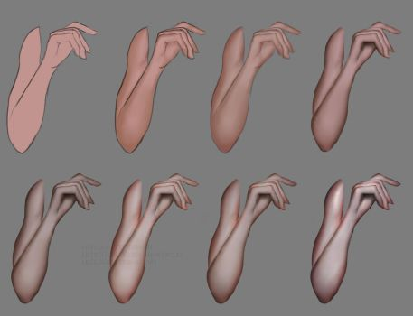Arm shading tutorial by M00NBRUSH