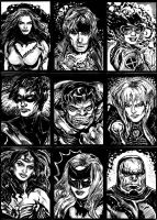 Sketchcards, Round I by mysteryming