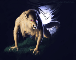 Golden Wolf, Silver Light by TeknicolorTiger