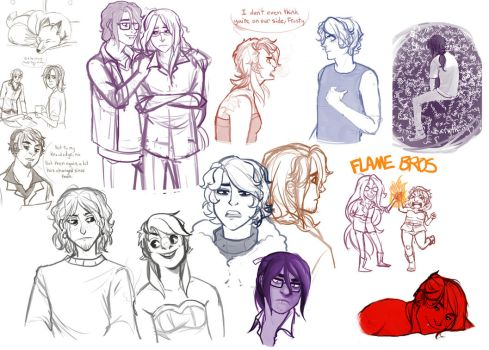 Insaneographic Sketchpile :: FLAME BROS by RyuichiFoxe