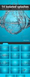 14 Realistic Isolated Splashes PSD by xgfxws