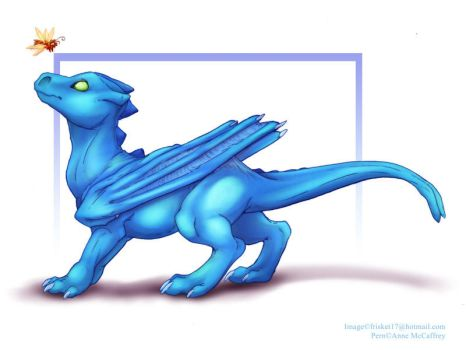 Pern: Blue Hatchling by frisket17