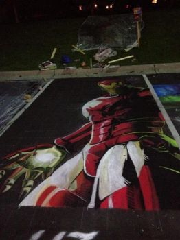 Iron Man Chalk by chelsaroo