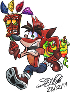 Crash Bandicoot by AztecAngler