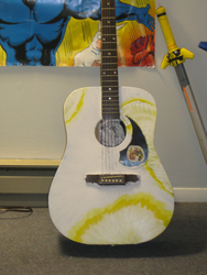 painting a guitar -yellows- by not-fun