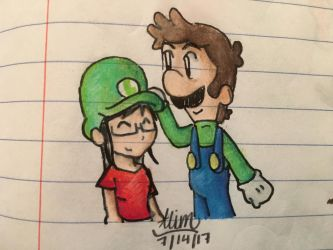 Me and Luigi by PokeMarioGamer16