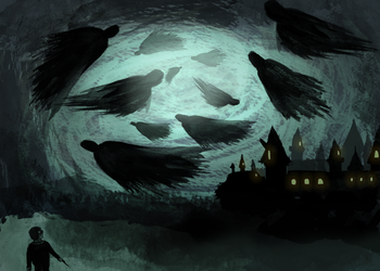 Dementors In The Night Sky by ana182