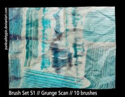 Brush Set 51 - Grunge Scan by punksafetypin
