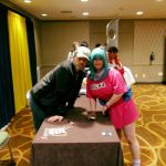 Bulma meets Eric Vale (Trunks) by SailorUsagiChan