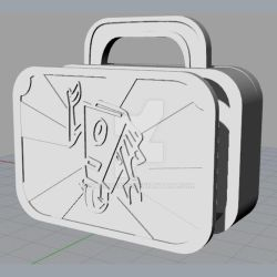 Claptrap Lunchbox Rhinoceros 3d model by kakodrake