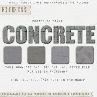 PS Style: CONCRETE by HGGraphicDesigns