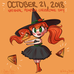 Pumpkin Cheesecake Day by compassrose0425