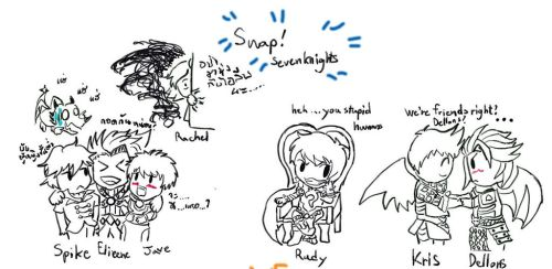 Sevenknights Doodles : Swap! Gag by LoveCartoonGame