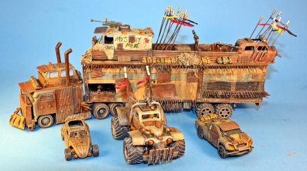 Hot Wheels Mad Max War Rig conversion by billking